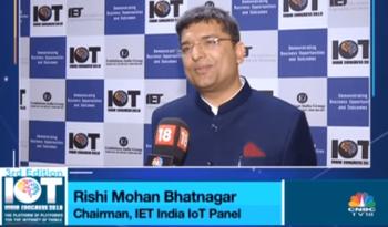 Dr. Rishi at IOT India Congress 2018 - Third Edition