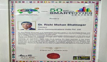 """Recognized as the """"50 Most Impactful Smart Cities Leaders (Global Listing)"""" by World CSR Day"""