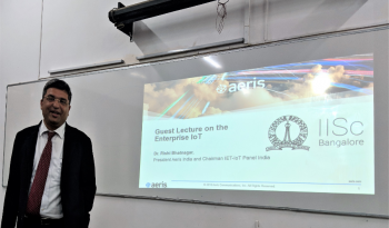 Guest Lecture on the Enterprise IoT at IISc Bangalore