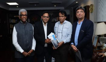 IET core committee members with Suresh Prabhu, Minister for Commerce and Industry